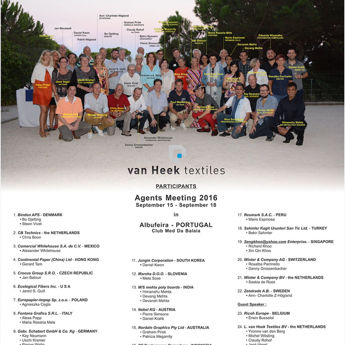 Van HEEK Meeting
